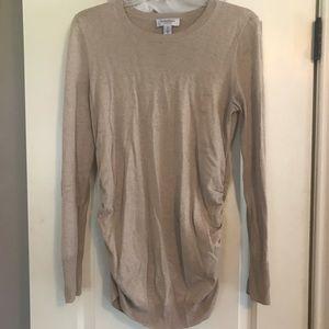 Tan maternity sweater